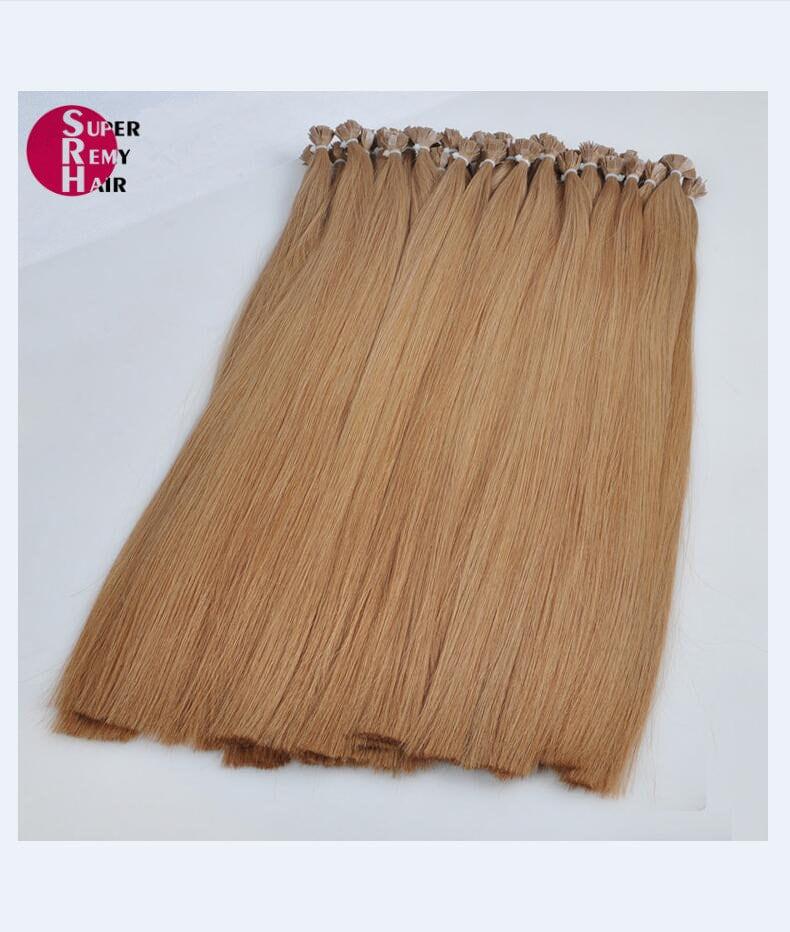 Flat Tip Hair 8a Grade 100 Human Hair Extensions 12 30 Inch Light