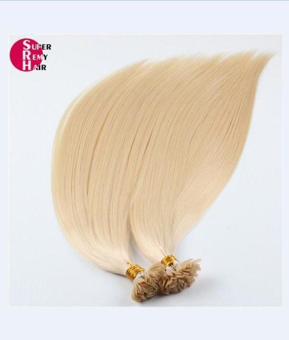 Super Remy Hair-100% human hair extensions flat tip hair extensions