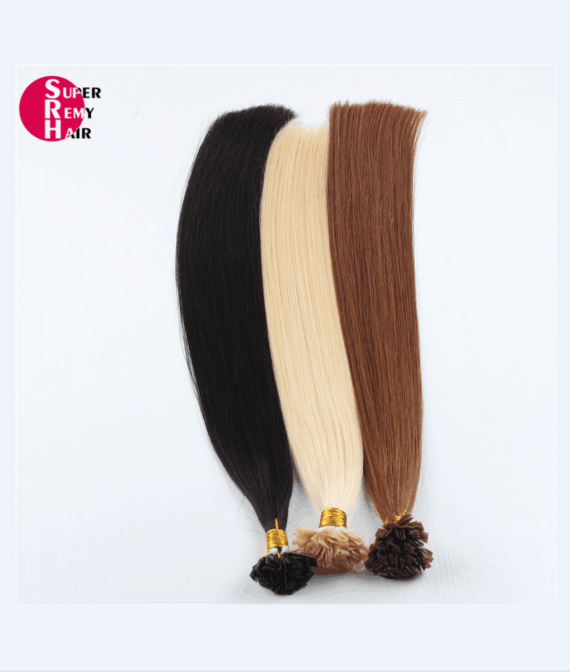 Super Remy Hair-100% human hair extensions flat tip hair extensions