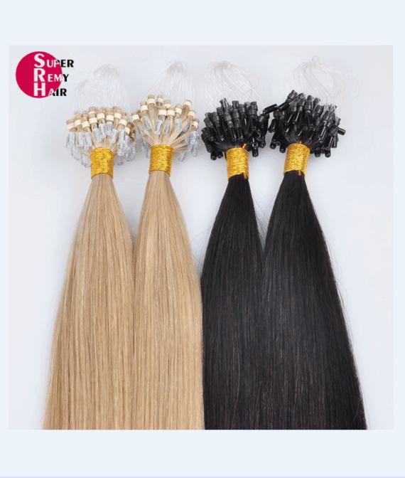 Loop Hair 8a Grade 100 Human Hair Extensions 12 30 Inch Dark Color