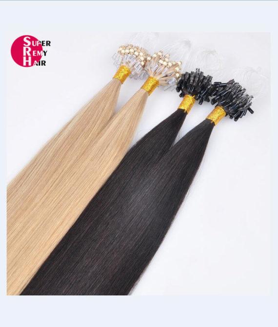 Super Remy Hair-100% human hair extensions loop hair extensions