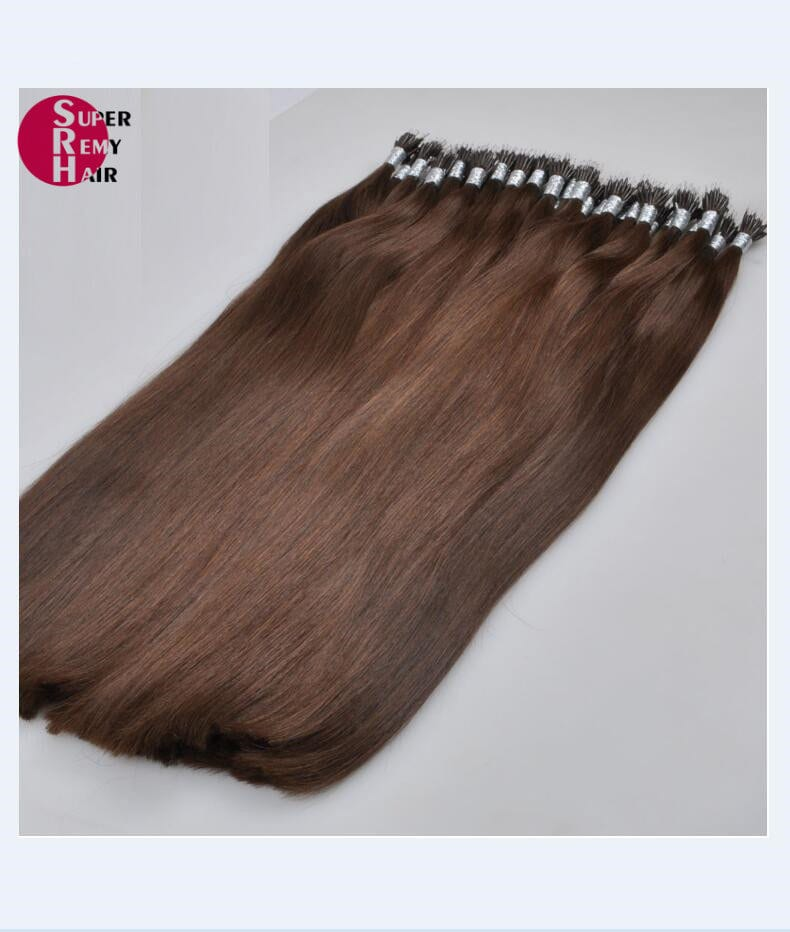 Nano Hair 8a Grade 100 Human Hair Extensions 12 30 Inch Dark Color