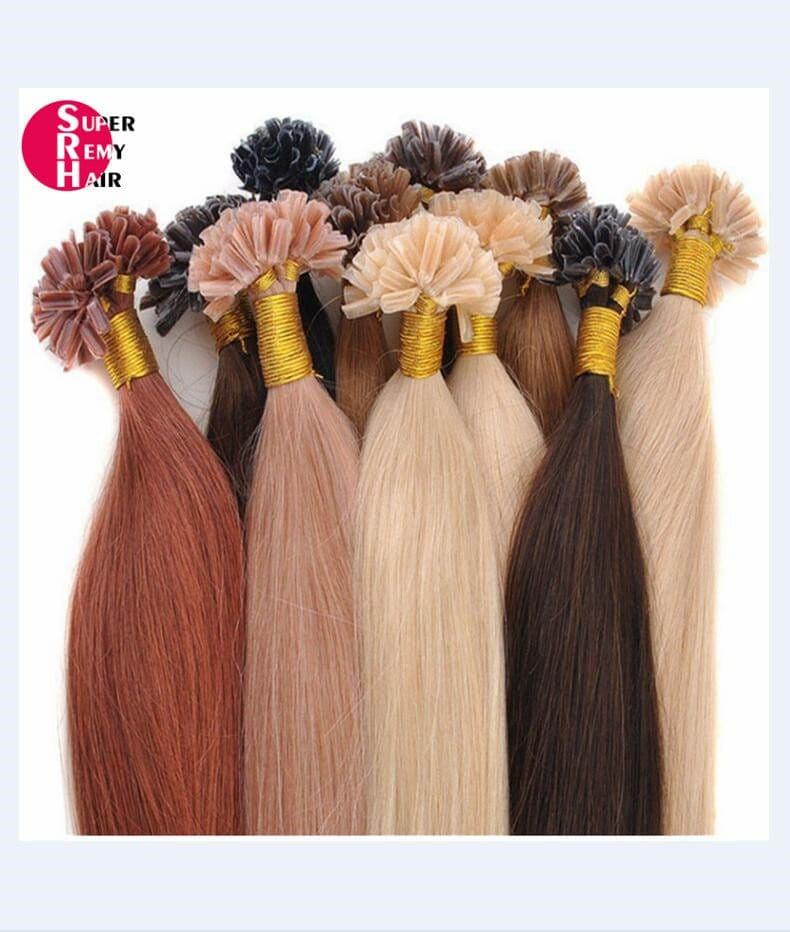 U Tip Hair 8a Grade 100 Human Hair Extensions 12 30 Inch Light