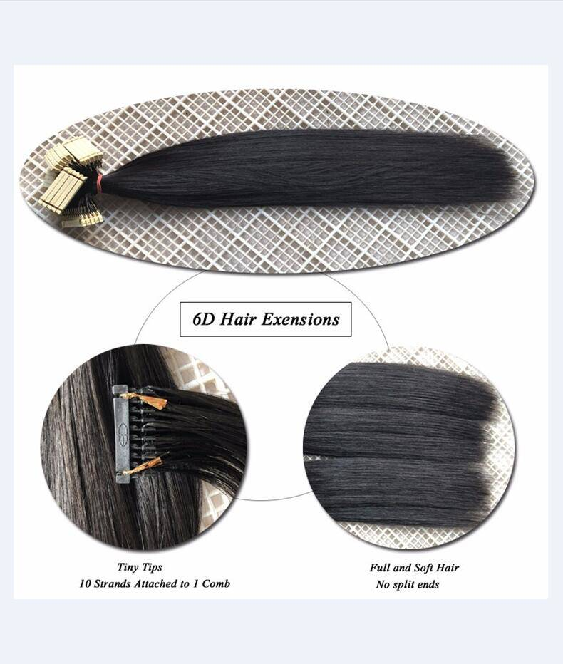6d Hair Extensions 2018 New Products High Quality Double