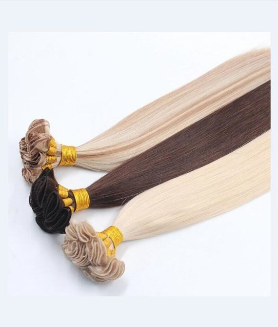 super remy hair hand tied weft hair extensions (4)